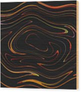 Squiggling Wood Print