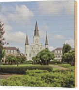 St. Louis Cathedral - Hdr Wood Print