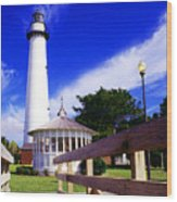 St Simons Island Lighthouse Wood Print