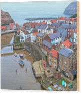 Staithes - England Wood Print