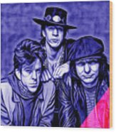 Stevie Ray Vaughan And Double Trouble Collection Wood Print