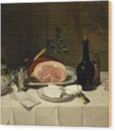 Still Life With Ham Wood Print