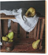 Still-life With Pears Wood Print
