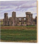 Stonehenge England United Kingdom Uk Wood Print