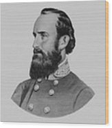 Stonewall Jackson - Six Wood Print