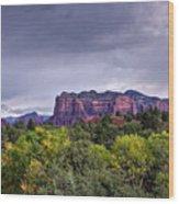 Storm Over Sedona  Wood Print