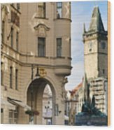 Streets Of Prague Wood Print