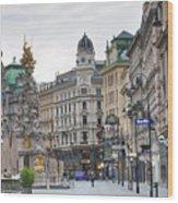 Streets Of Vienna Wood Print