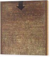 Stricken City Wood Print