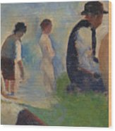 Study For Bathers At Asnieres Wood Print