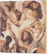 Study For The Martyrdom Of St Symphorien 1834  Wood Print