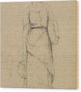 Study Of A Peasant Woman Wood Print