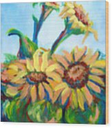 Sunflowers 2 Wood Print