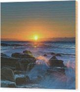 Sunrise And The Sea Wood Print