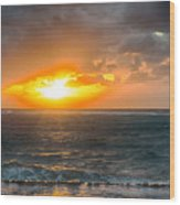 Sunrise At Kapaa - Kauai Wood Print