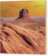 Sunrise Monument Valley Wood Print