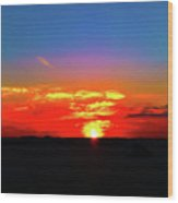 Sunset At Work Wood Print