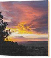 Sunset At Yaki Point Wood Print