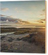 sunset Iceland Wood Print