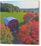 Sunset Hill Farms Indiana  Wood Print
