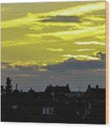 Sunset In Koln Wood Print