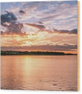 Sunset Over The Bay.......... Wood Print