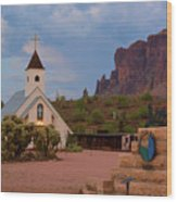 Superstition Mountain State Park Wood Print