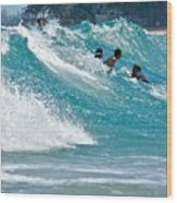 Surfs Up  Wood Print