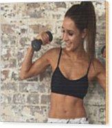 Sweat With Kayla Wood Print