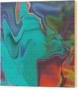 Swirm Wood Print