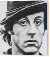 Sylvester Stallone Collection Wood Print