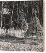 Tee Pee Wood Print