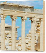 Temple Of Athena Nike In Greece Wood Print