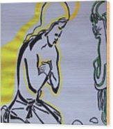 Temptation Of Jesus Wood Print