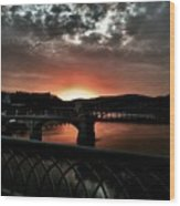 Tennessee River Sunset Wood Print