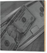 2 Tens 1 Dime 1 Penny  2011  Wood Print