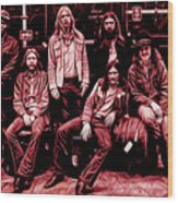 The Allman Brothers Collection Wood Print