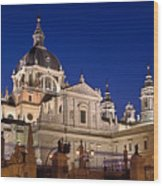 The Almudena Cathedral Wood Print