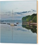 The Bass River At Dawn, Beverly Ma Wood Print