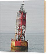 The Bell Buoy Wood Print