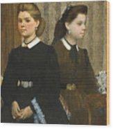 The Bellelli Sisters Wood Print