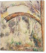 The Bridge Of Trois - Sautets Wood Print