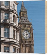 The Clock Tower In London Wood Print
