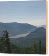 The Columbia River  Wood Print