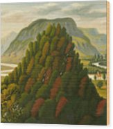 The Connecticut Valley Wood Print