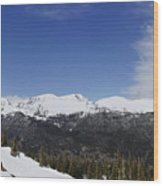 The Continental Divide Wood Print
