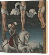 The Crucifixion With The Converted Centurion Wood Print