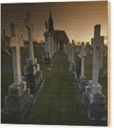 The Graveyard Wood Print