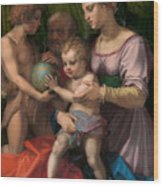 The Holy Family With The Young Saint John The Baptist Wood Print