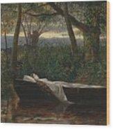 The Lady Of Shalott Wood Print